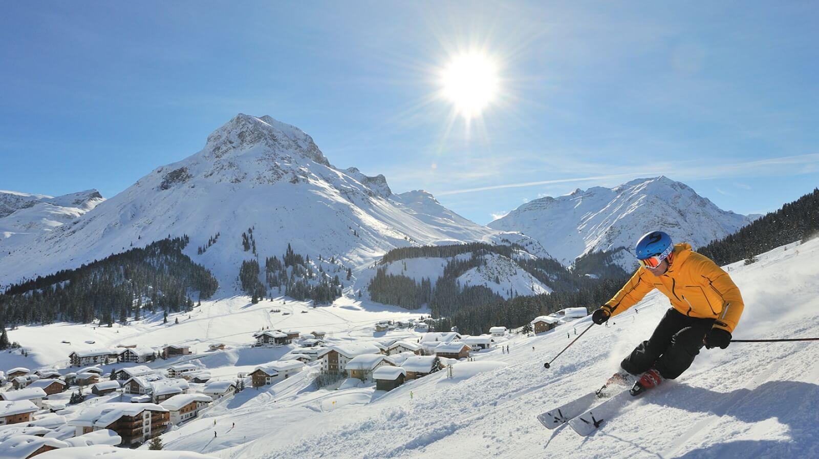 Катание на лыжах в Лехе