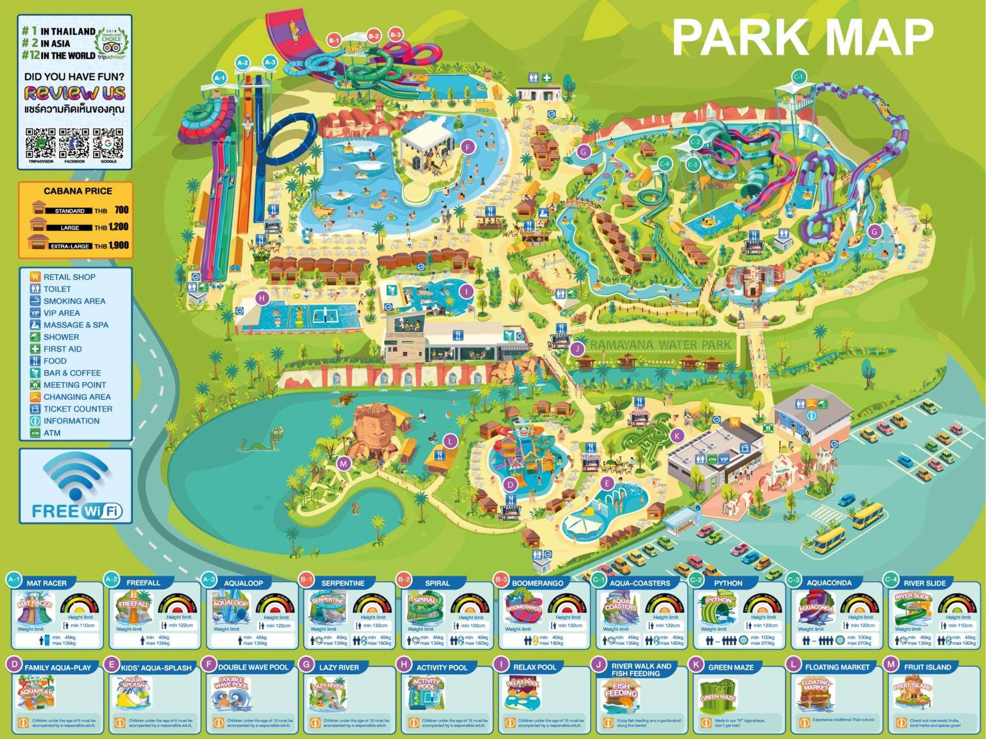 Карта аквапарка Ramayana