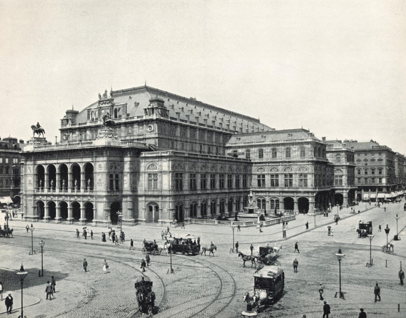 Венская опера в 1898 году