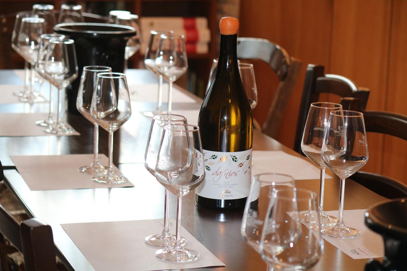 Дегустации на критской винодельне