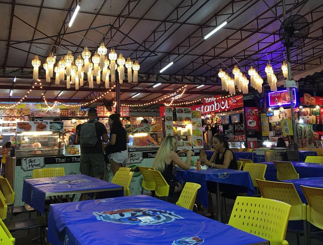Зона рынка с едой