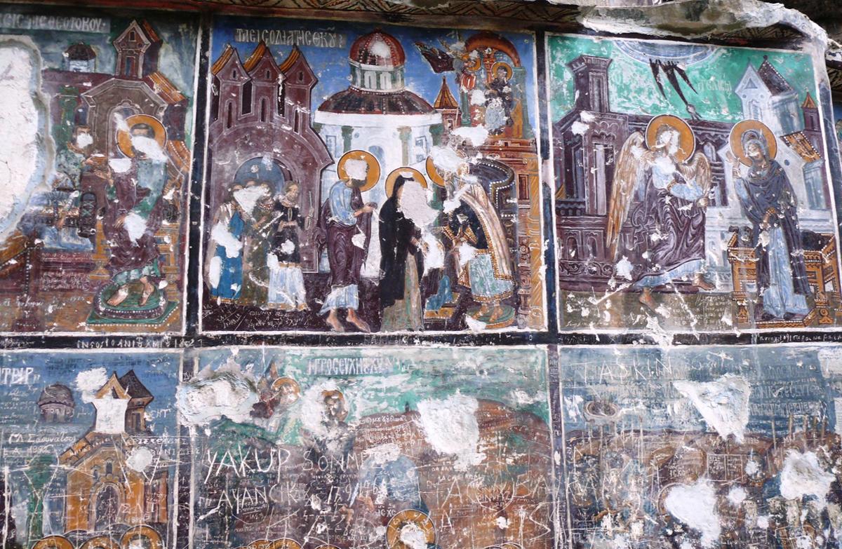 Разрушенные настенные росписи