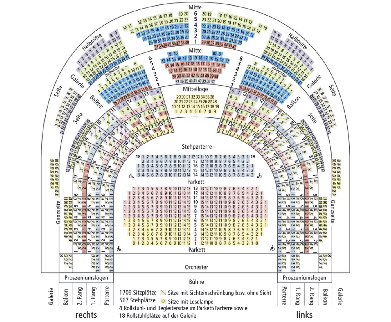Схема зала оперы