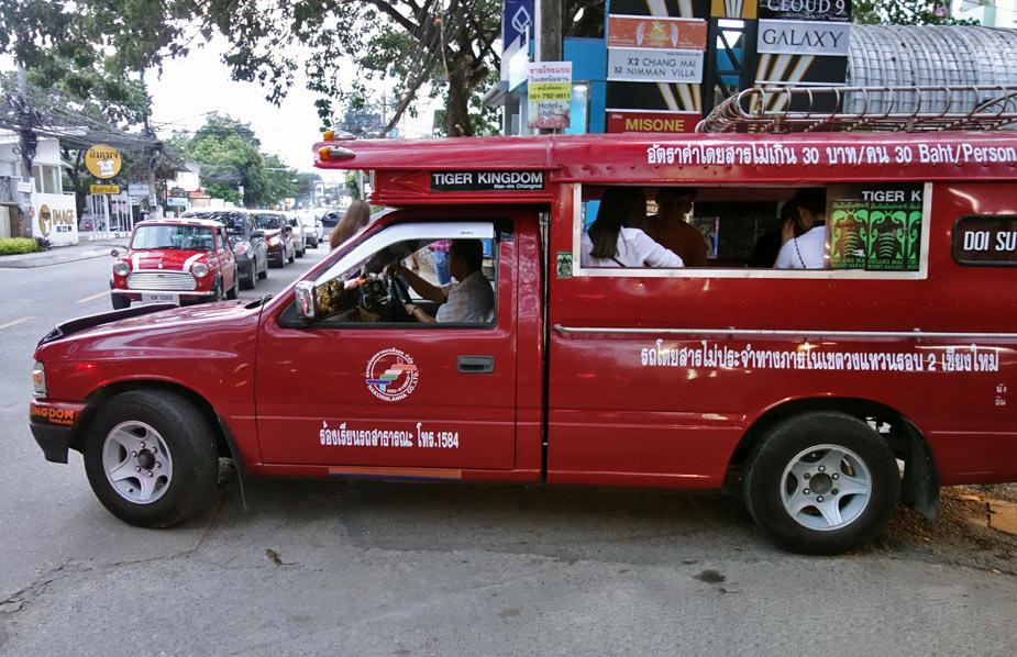 Сонгтео в Чиангмайе
