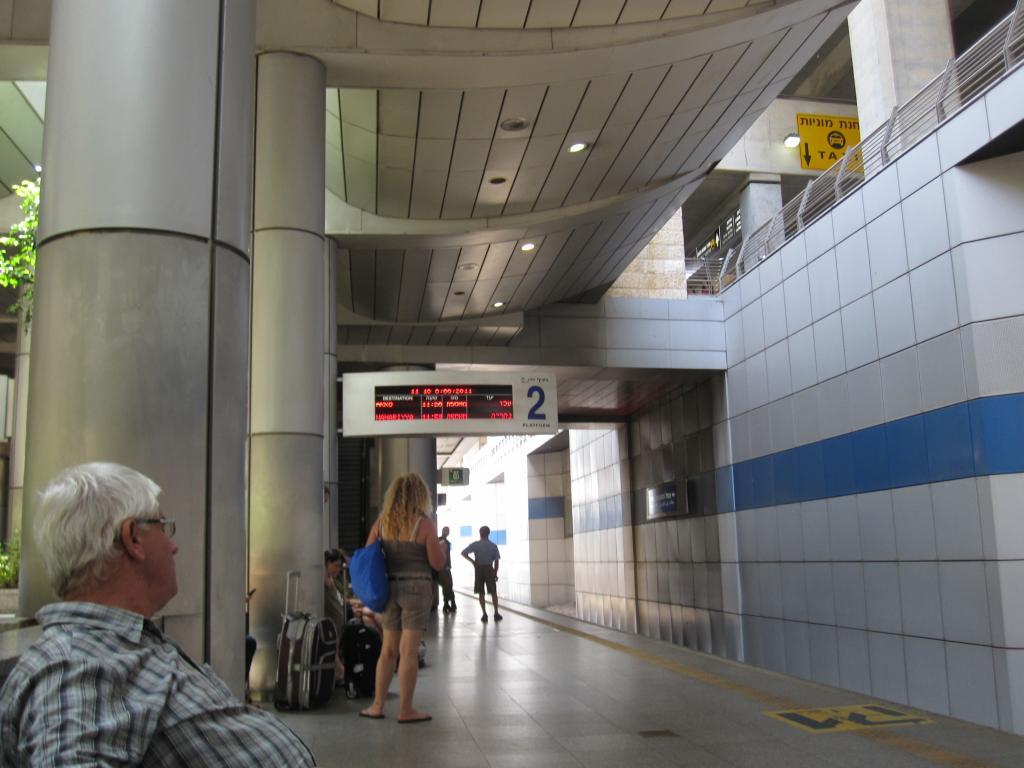 ЖД станция в аэропорту Бен Гурион