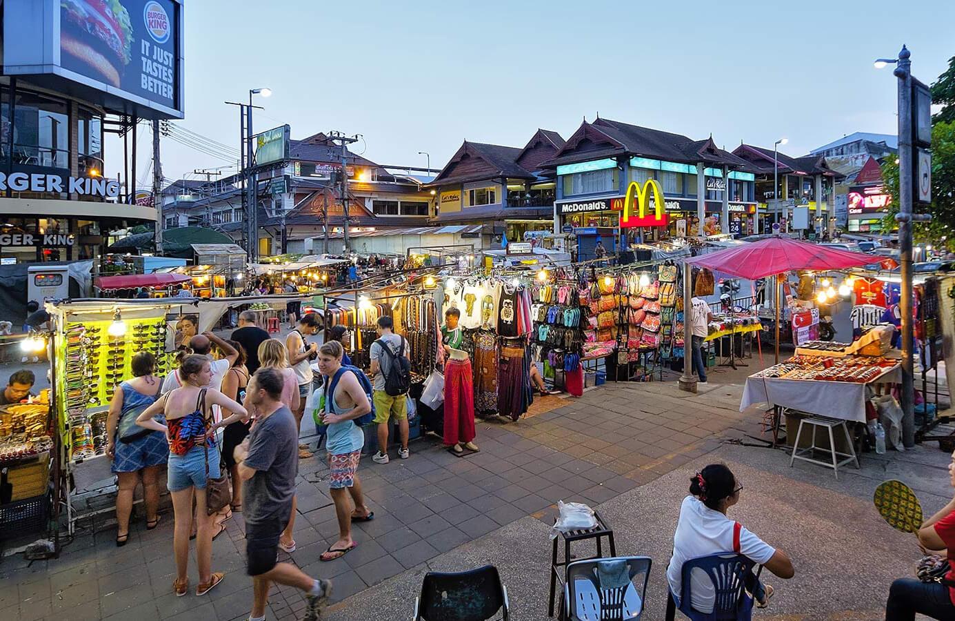 Туристы в Чиангмайе