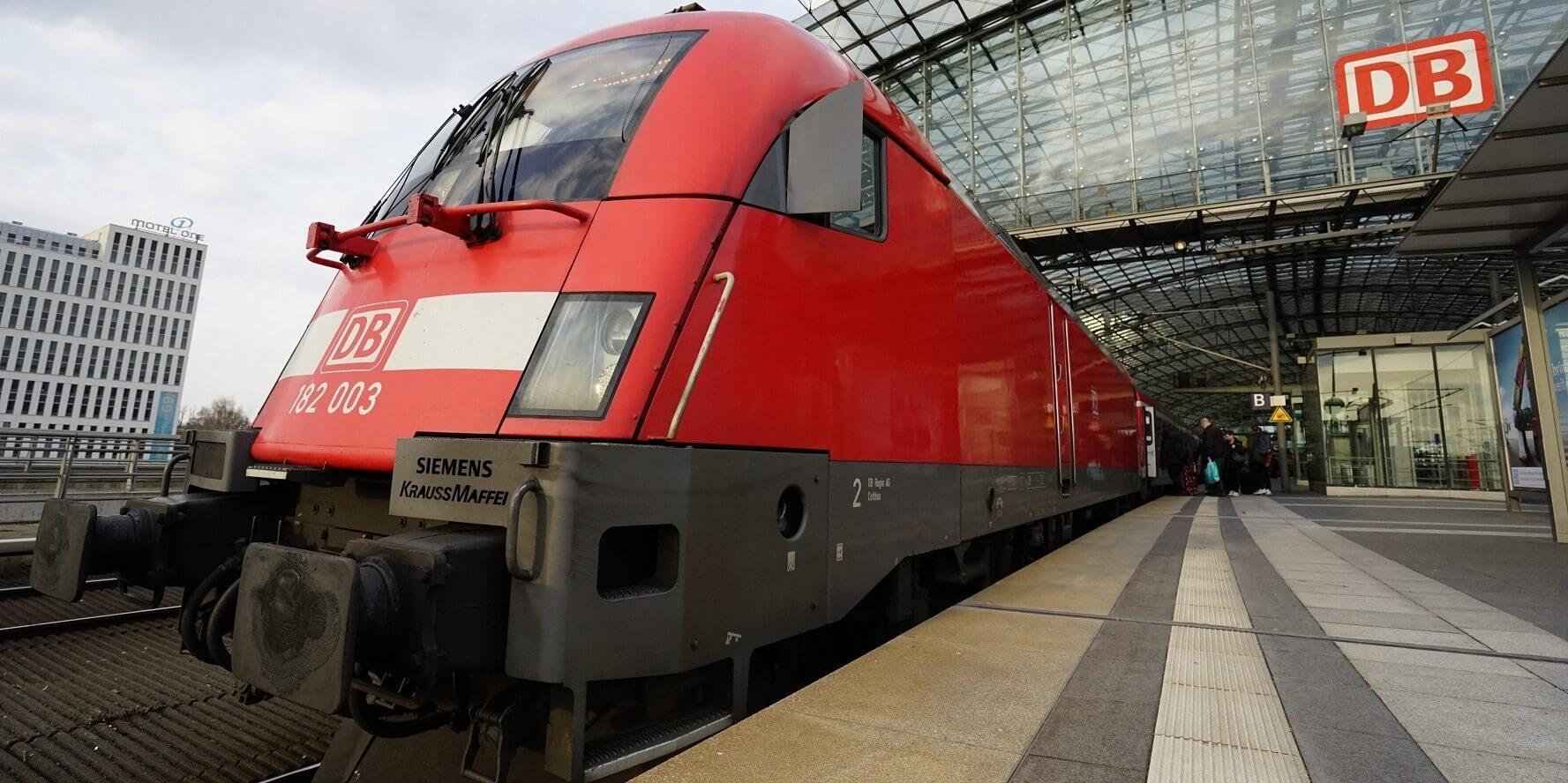 Поезд с вокзала Hauptbahnhof