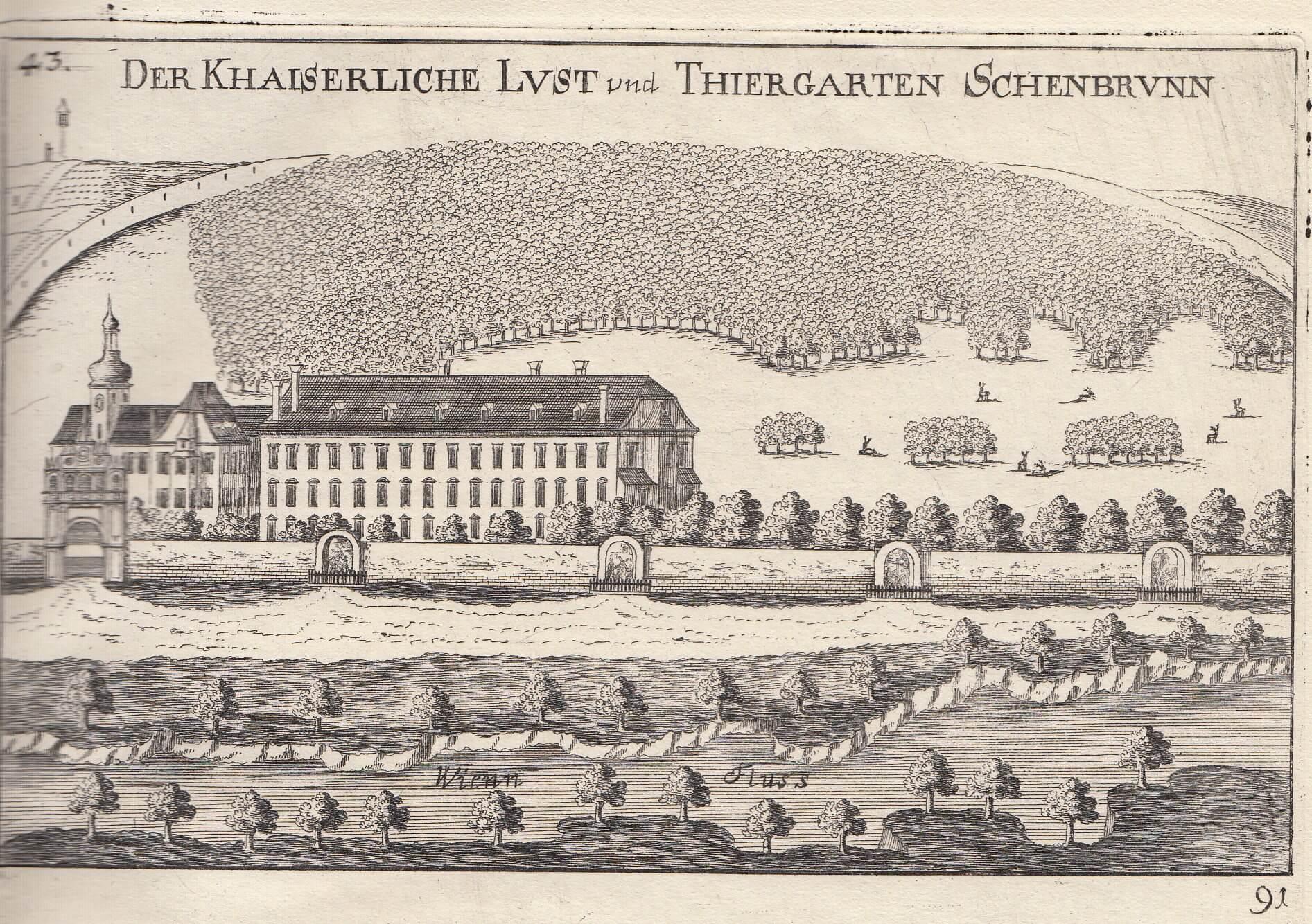 Замок Шенбрунн в 1672 году