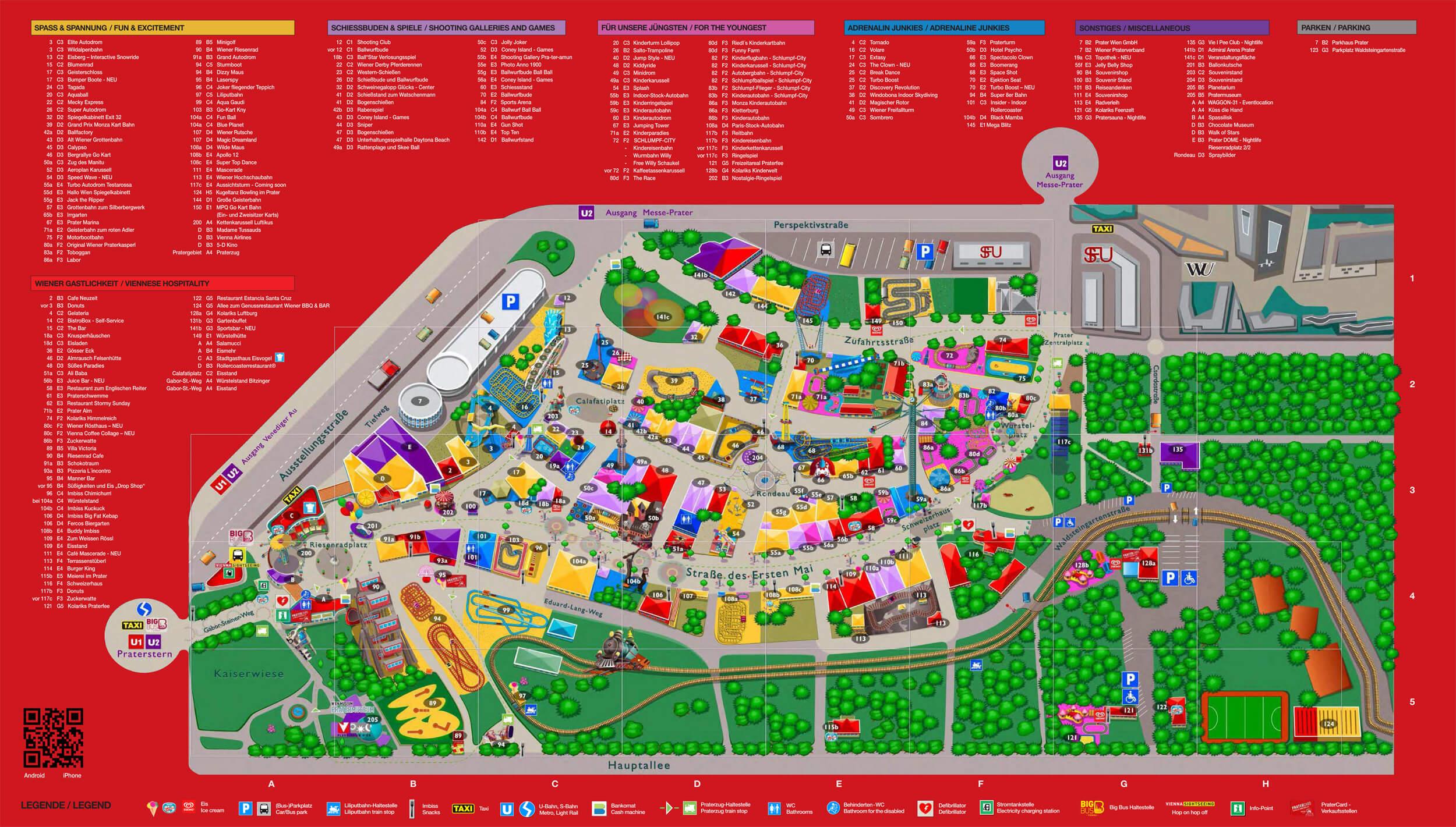 Карта парка Пратер