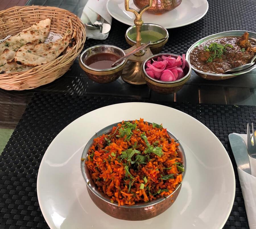 Обед в ресторане Tandoori Flames