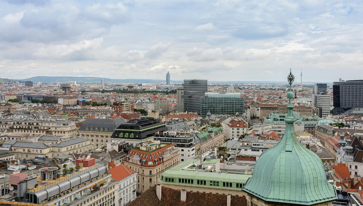 Вид на Вену с Южной башни
