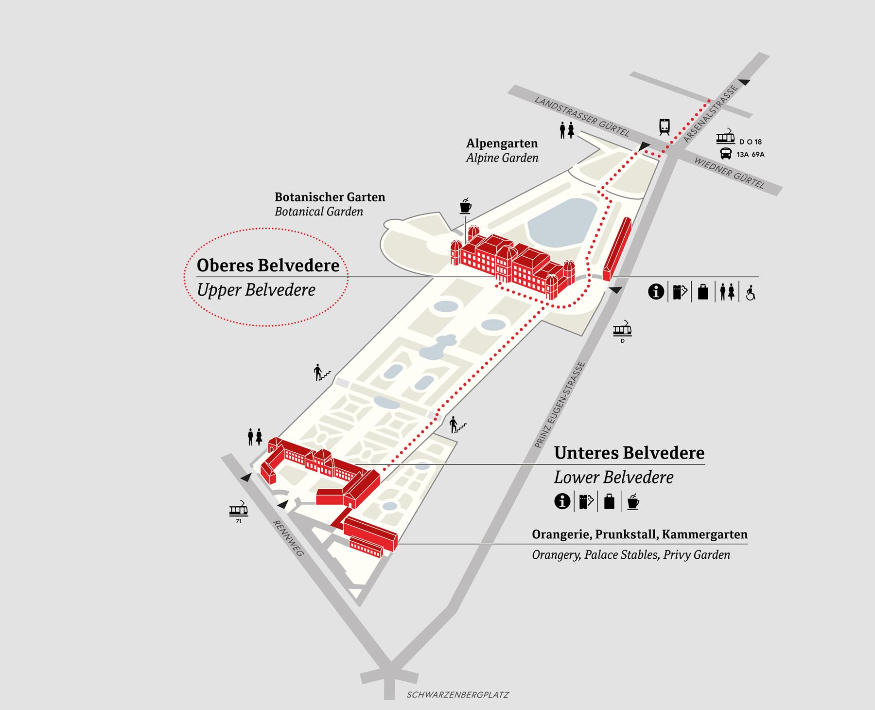 Схема комплекса Бельведер