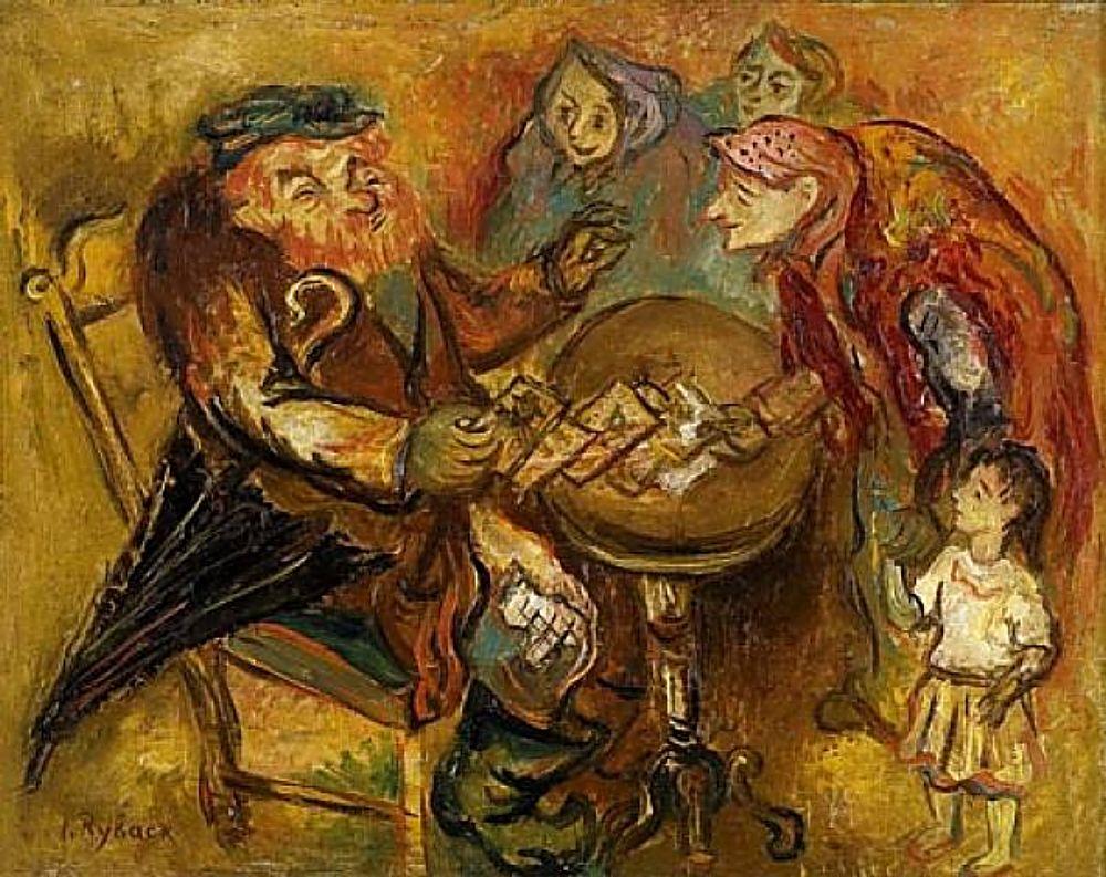 Картина Рыбака в музей «Бет-Рыбак»