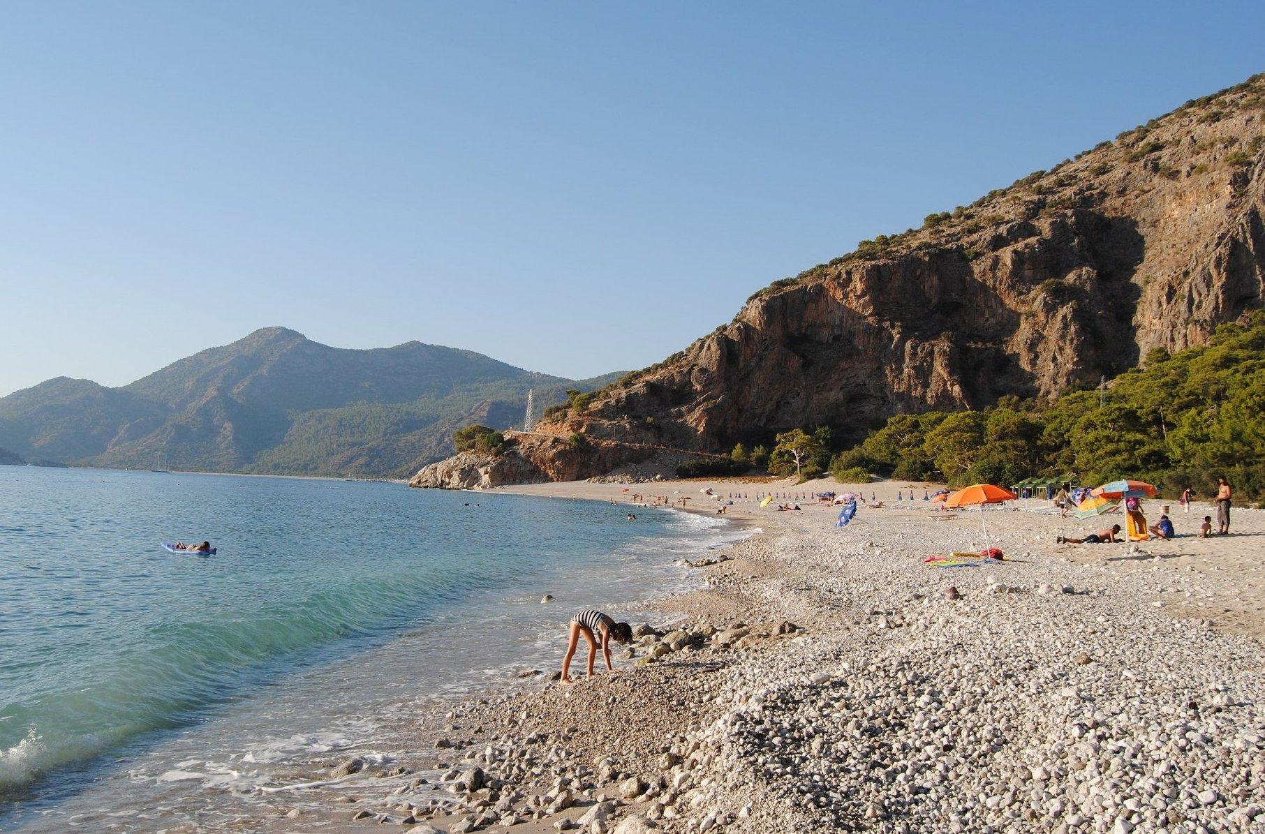 Пляж в Фетхие, Турция