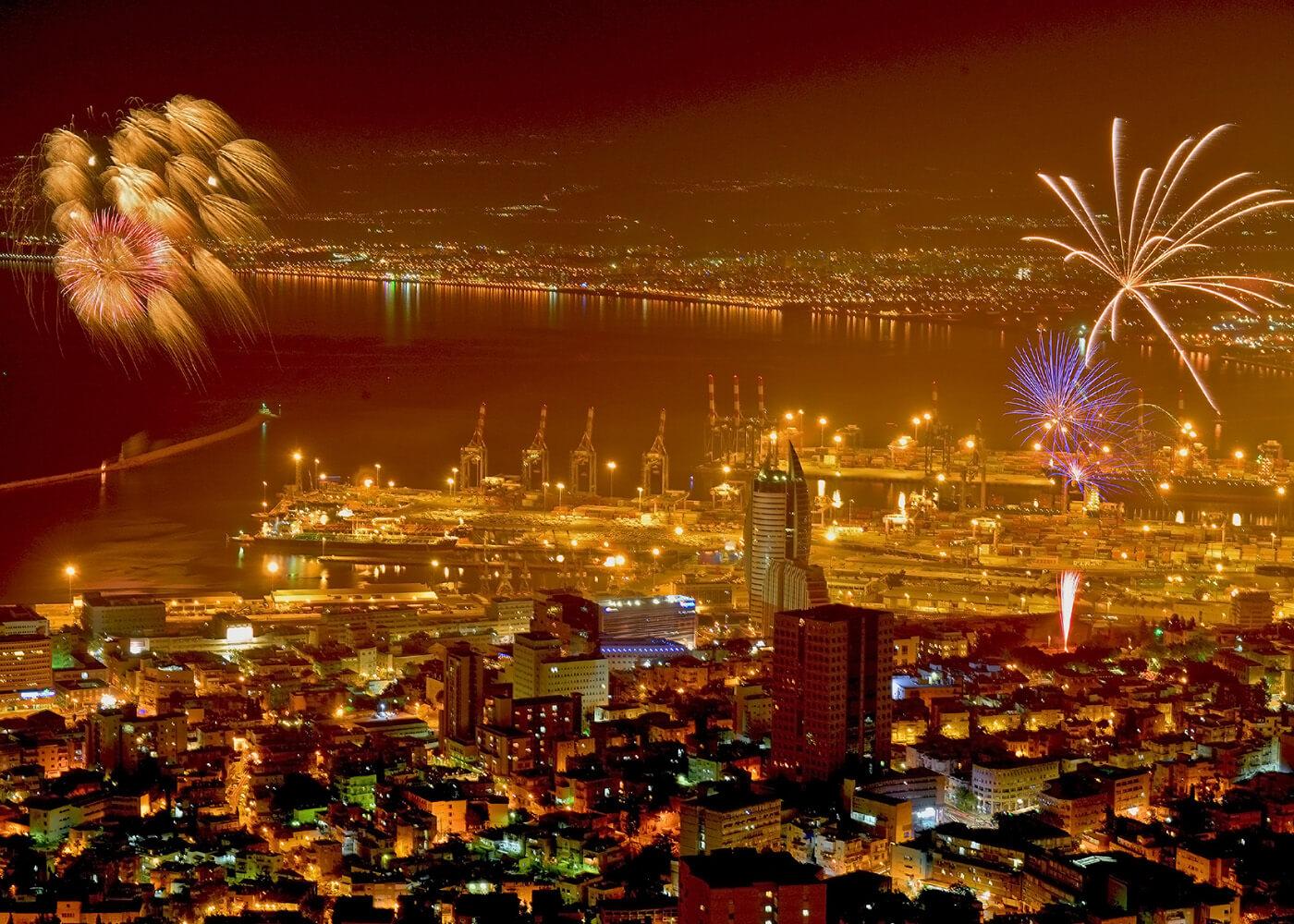 День независимости с фейерверками