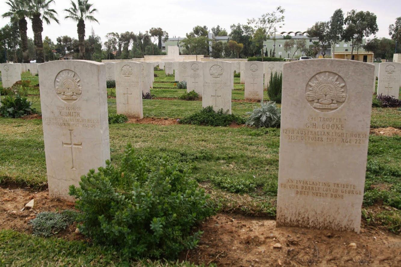 На Британском военном кладбище в Беэр-Шеве