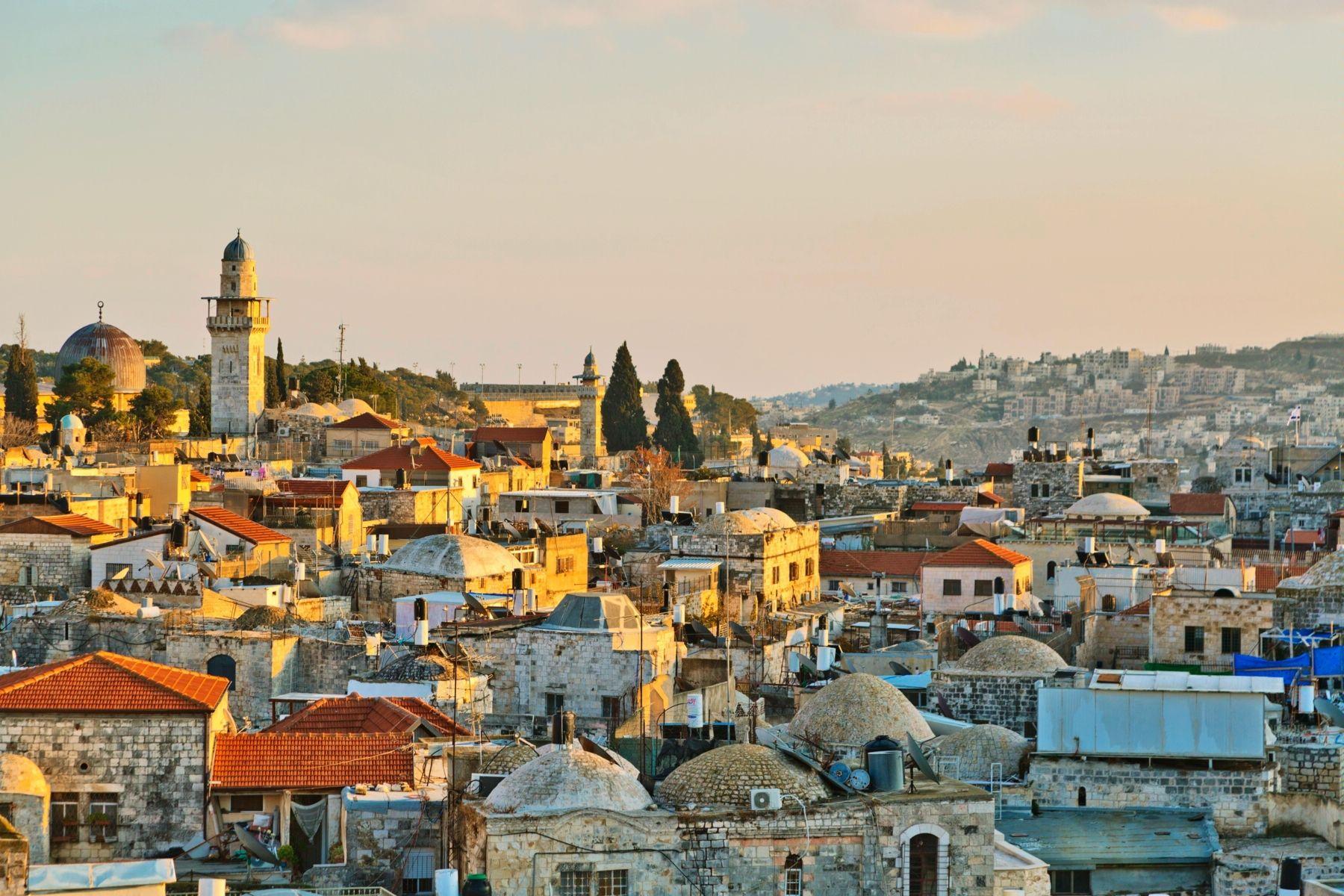 Панорамный вид на город Иерусалим