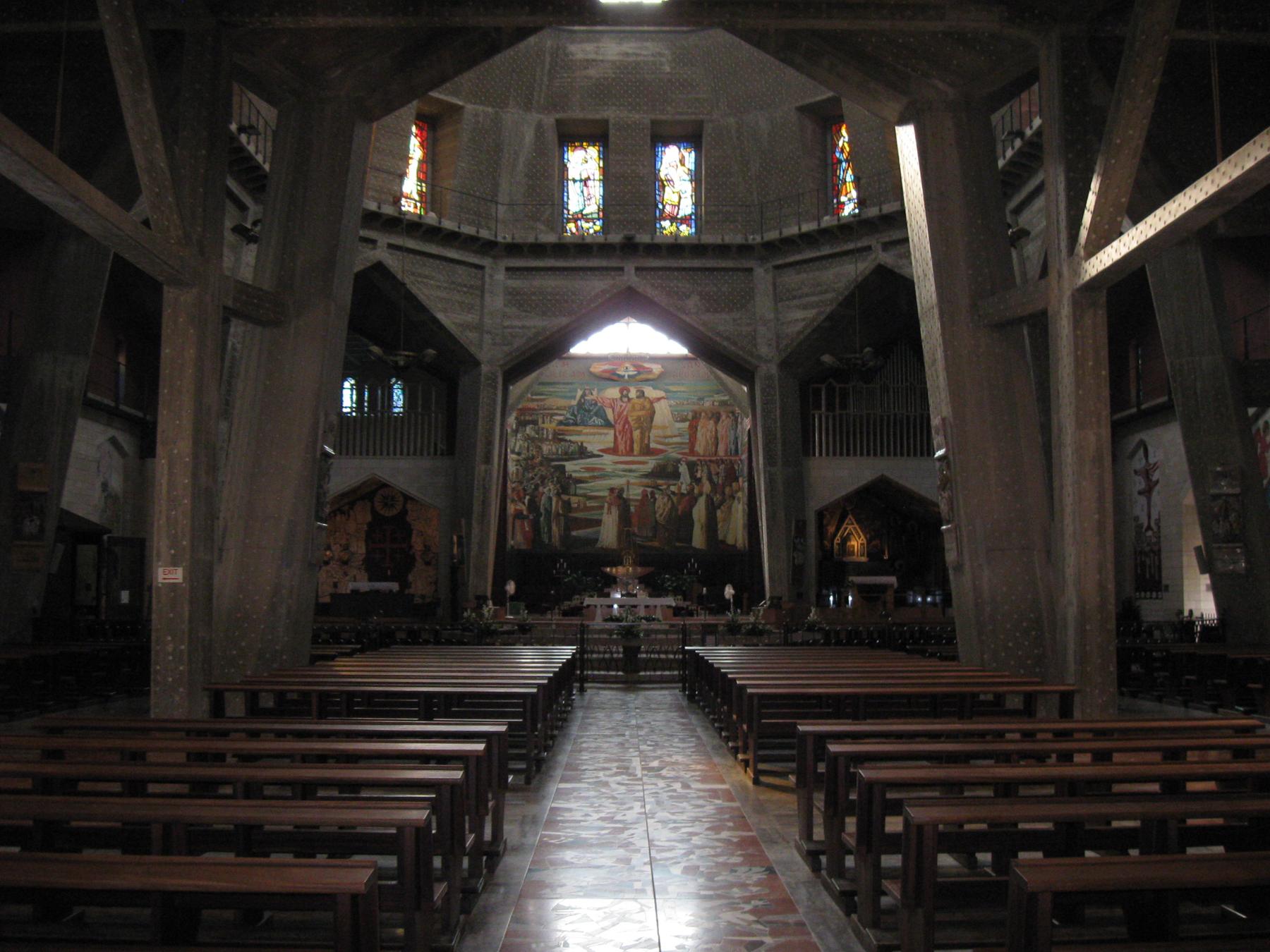 Верхний уровень базилики Благовещения