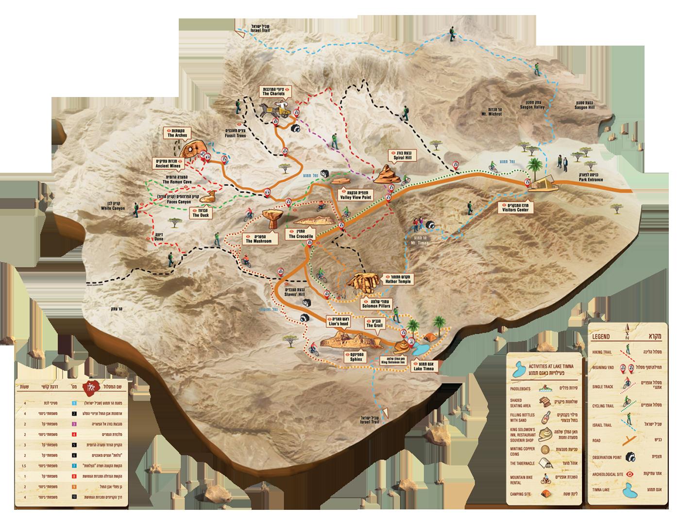 Карта парка «Тимна»