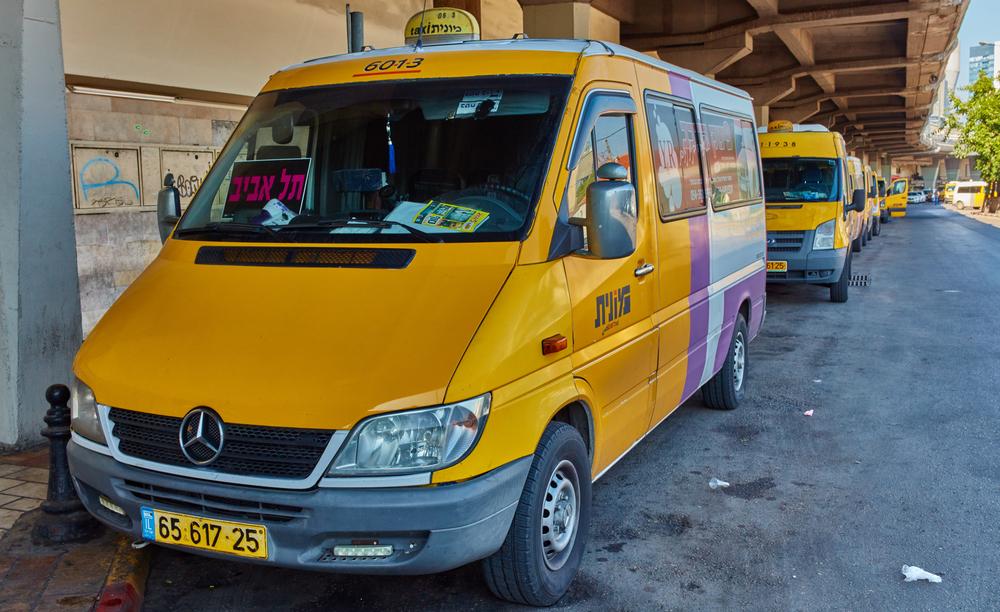 Маршрутное такси в Тель-Авиве