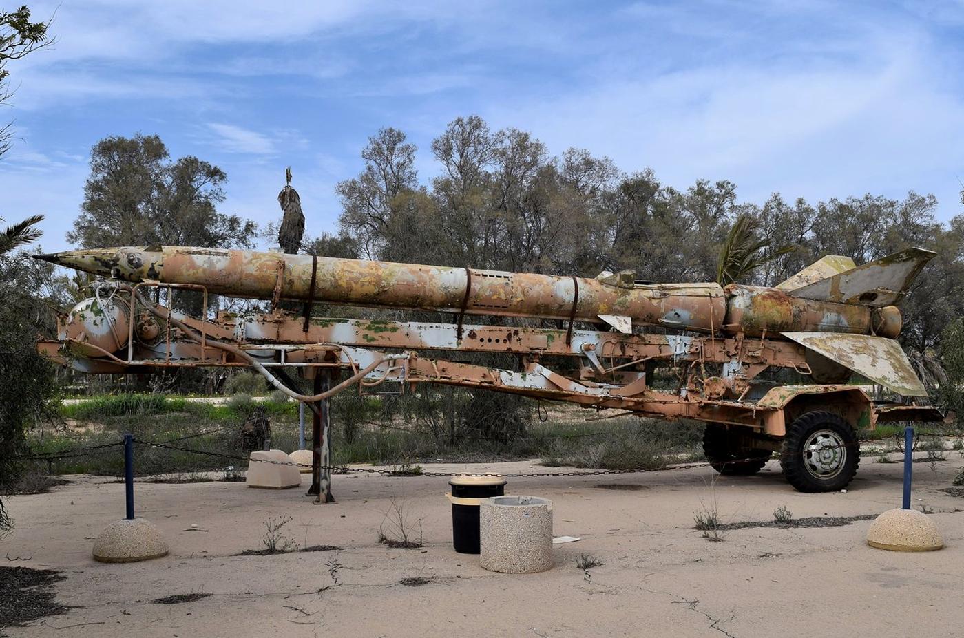 Ракета в музее авиации Израиля