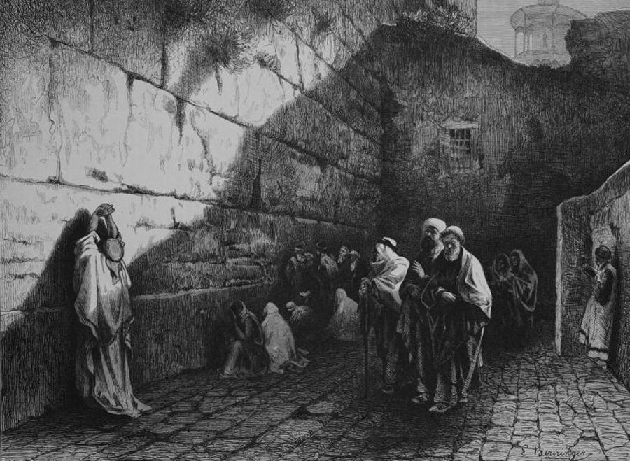 Стена Плача в 1870 году