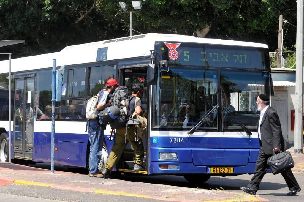 Автобус транспортной компании «Дан»