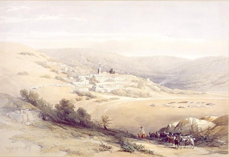 Так выглядел Назарет в 1842 году