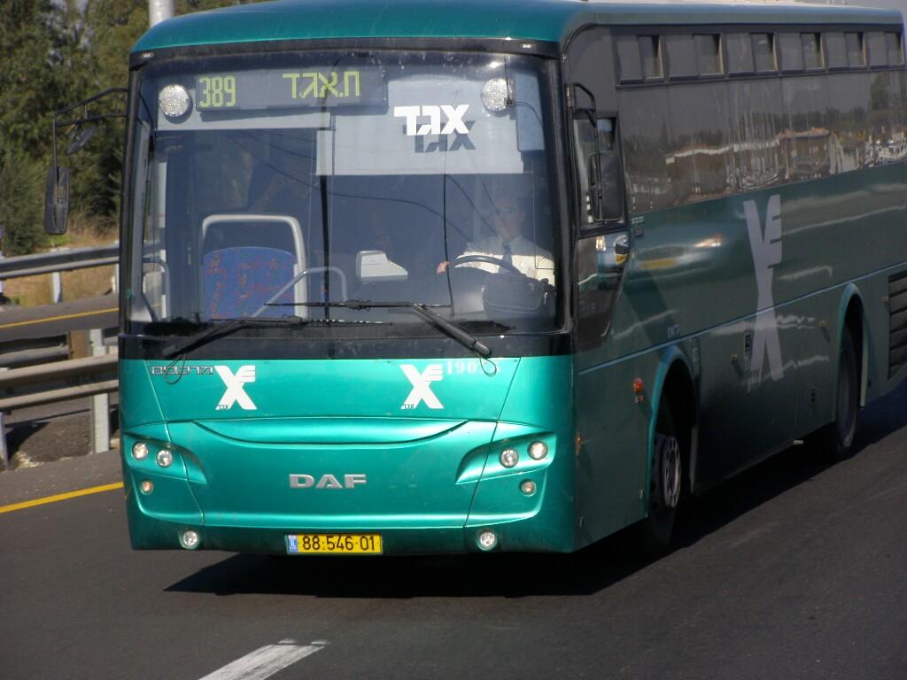 Поезда на автобусе №389 из Тель-Авива в Арад