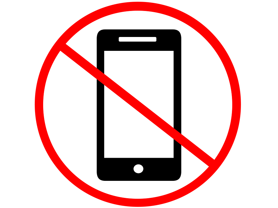 Запрещено пользоваться телефонами