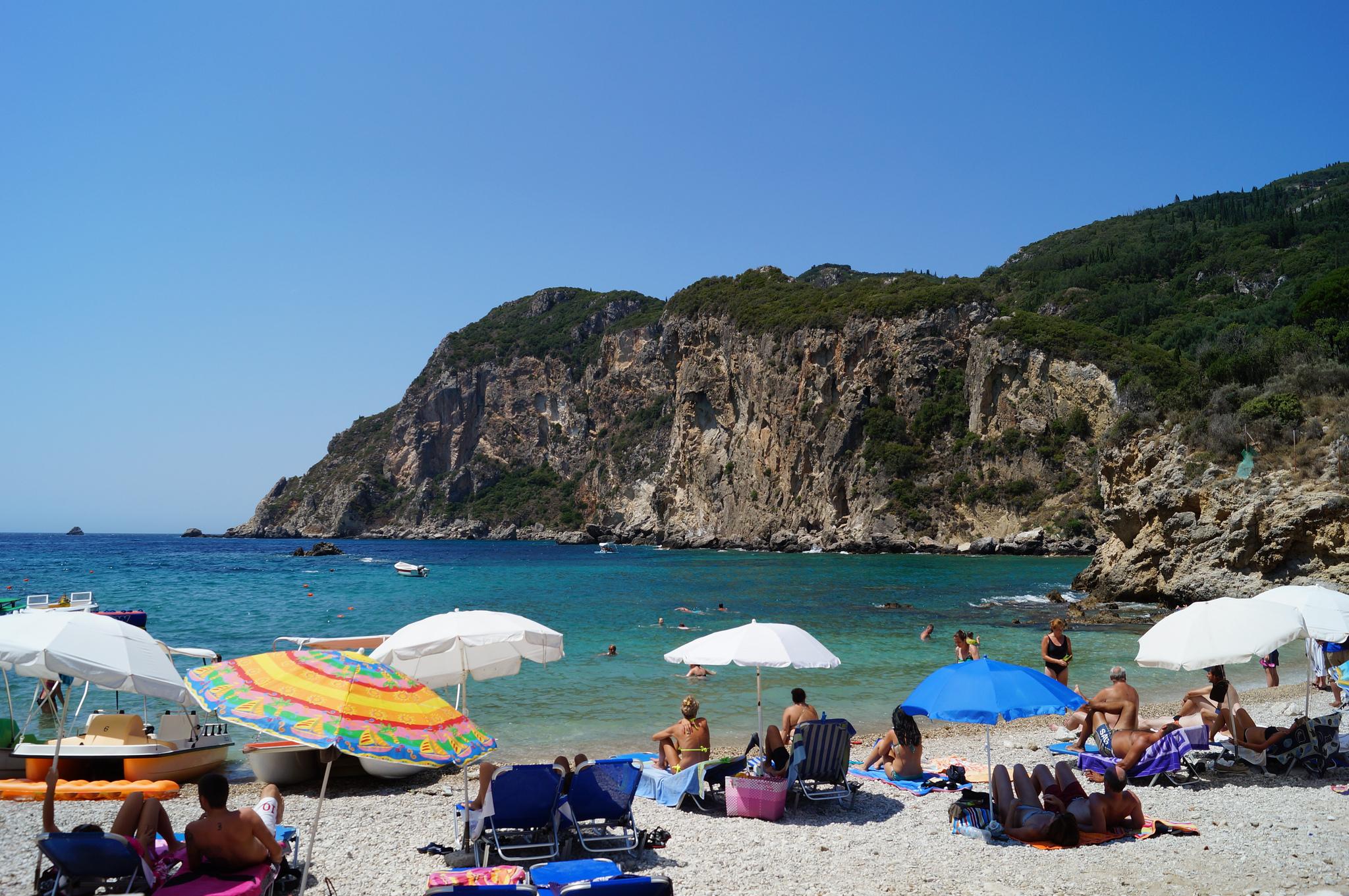 Пляж Палеокастрица