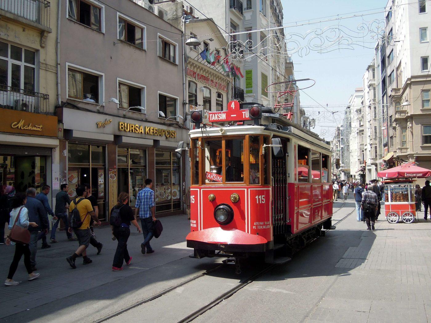 Прогулка районом Таксим, Турция
