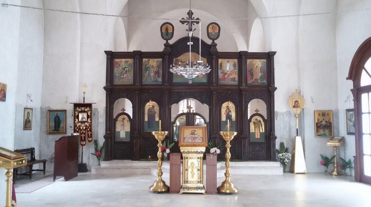 Внутренне убранство церкви Святого Саввы