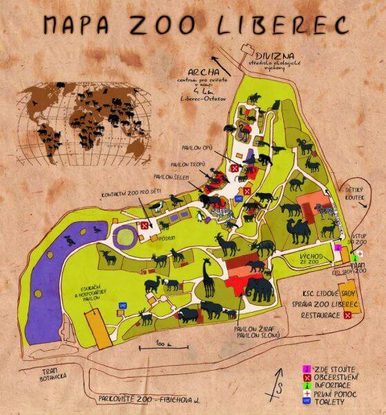 Либерецкий зоопарк в Чехии