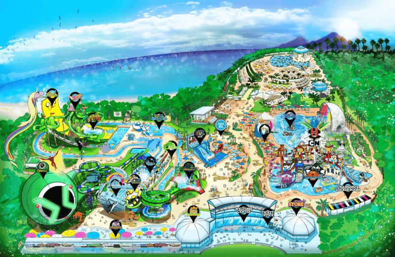 План аквапарка