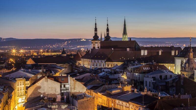 Чешский город Оломоуц