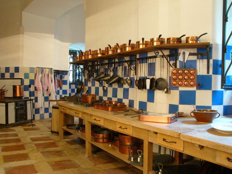 Кухня в замке Глубока-над-Влтавой