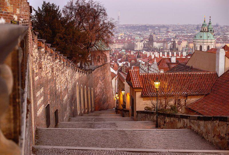 Новая лестница в Праге