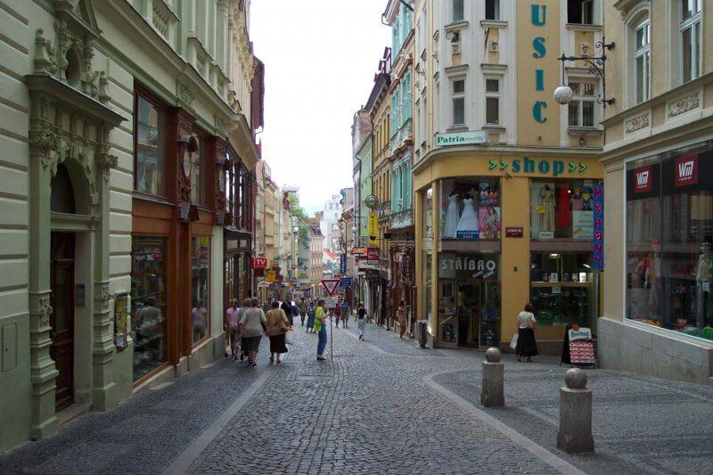 Улицы города Либерец