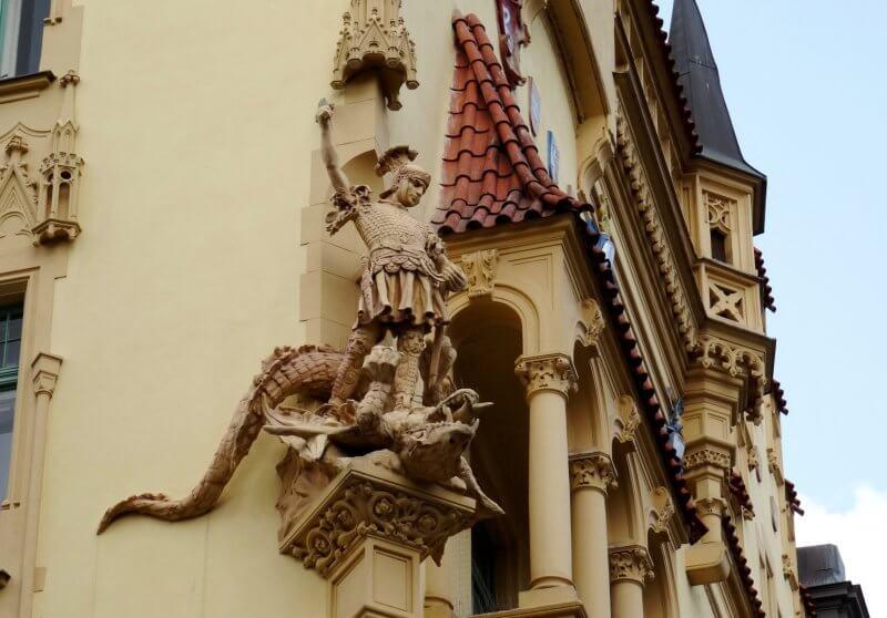 Фасад здания в Еврейском квартале