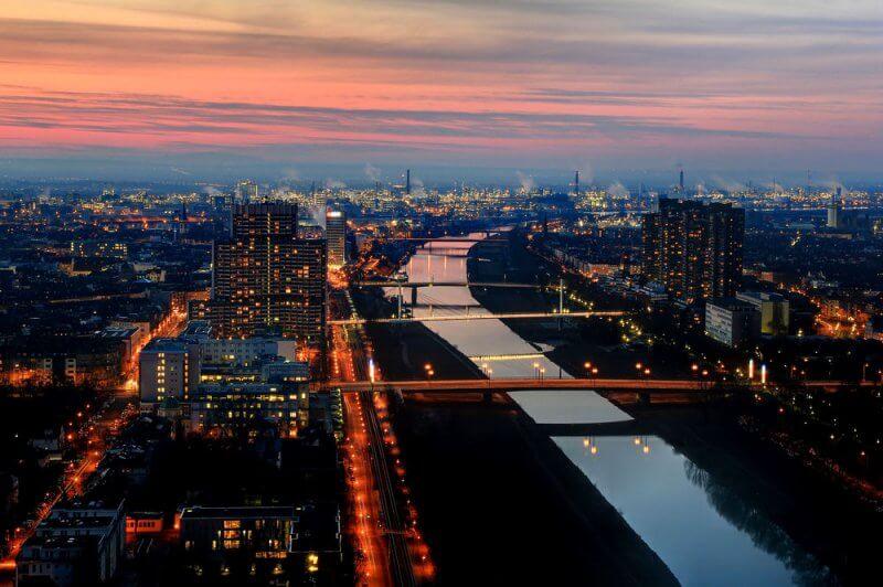 Вид на город Мангейм