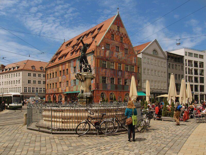 Старый город в Аугсбурге