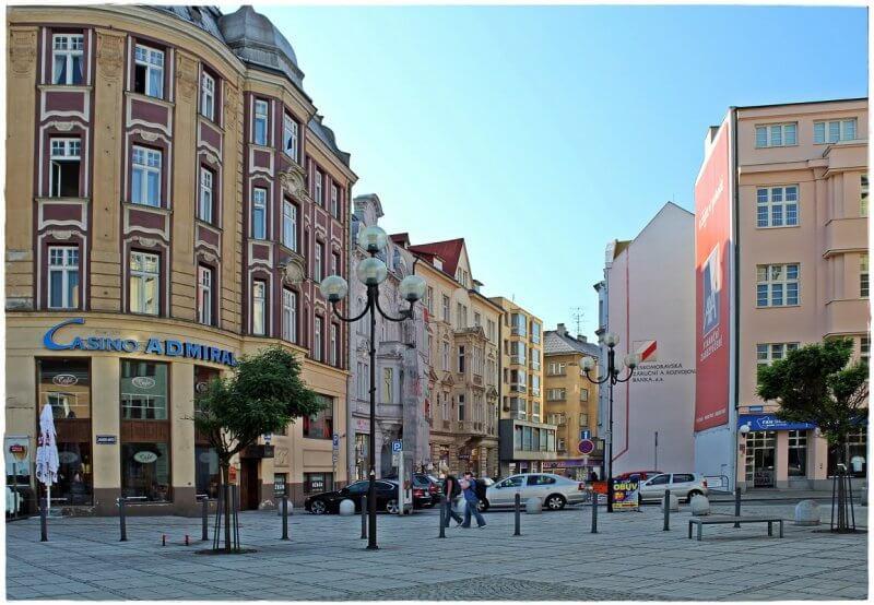 Улочка в городе Острава