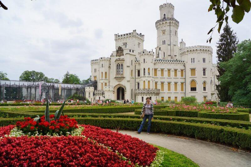 Парк в замке Глубока-над-Влтавой