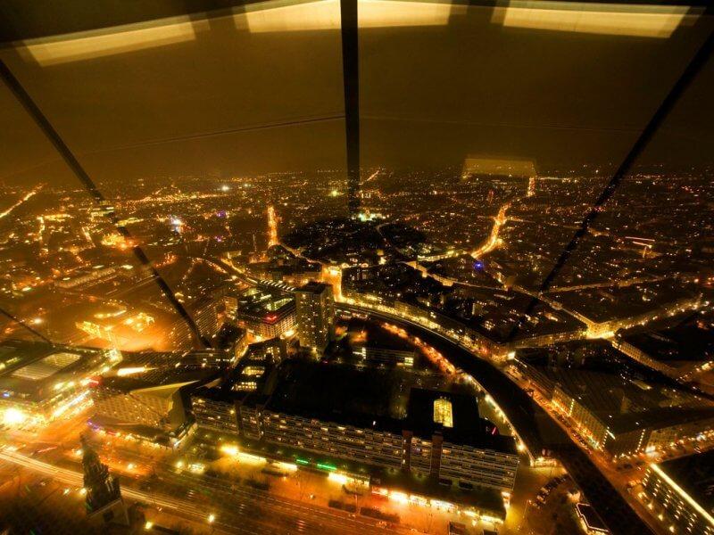 Вид на Берлин ночью