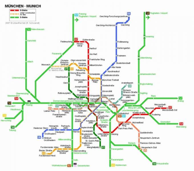 Схема Берлинского метрополитена
