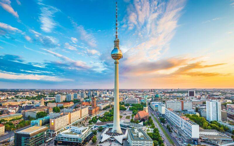 Вид на Берлинскую телебашню