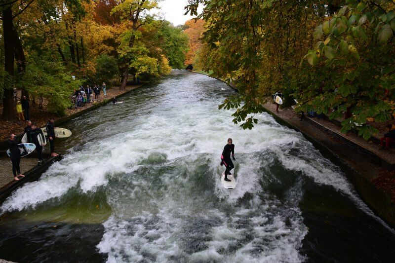 Сёрфинг в Английском парке