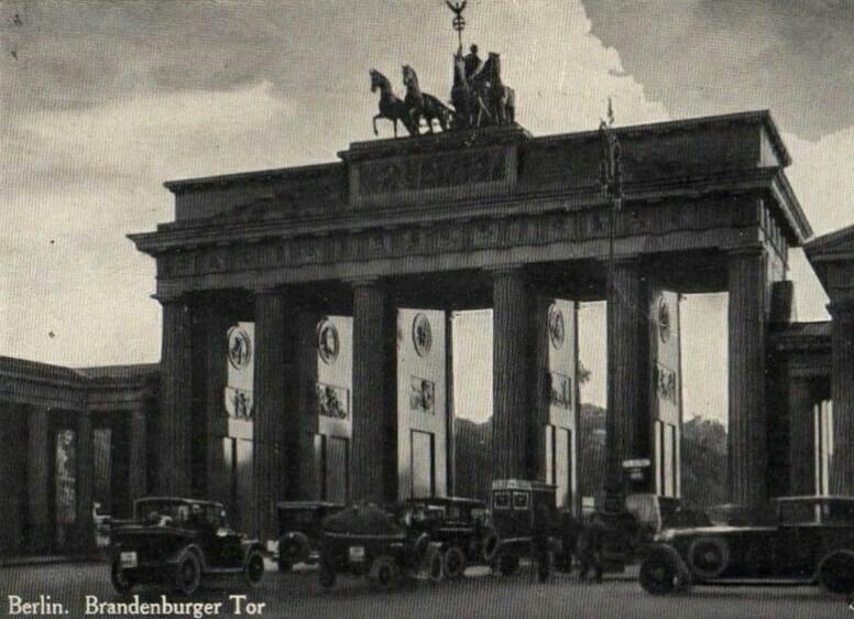 Бранденбургские ворота после Первой мировой