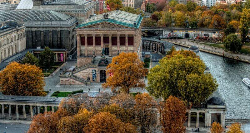 Вид сверху на музеи